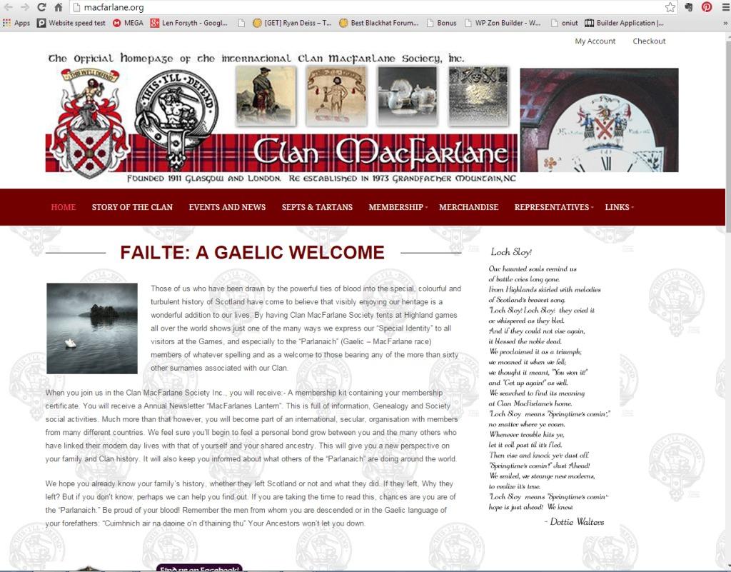 Clan MacFarlane Home Page