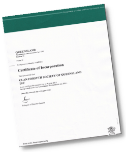 Certificate of Incoproration 380x460