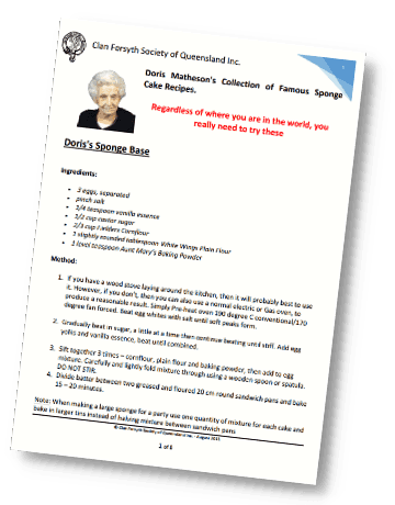 Doris Matheson 8 Page Recipe Guide Cover 360x460