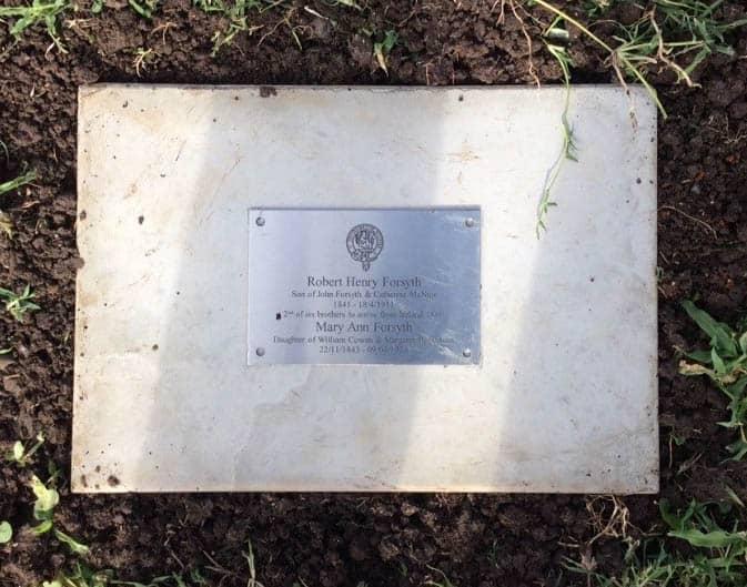 Robert Henery Forsyth Grave Marker cropped