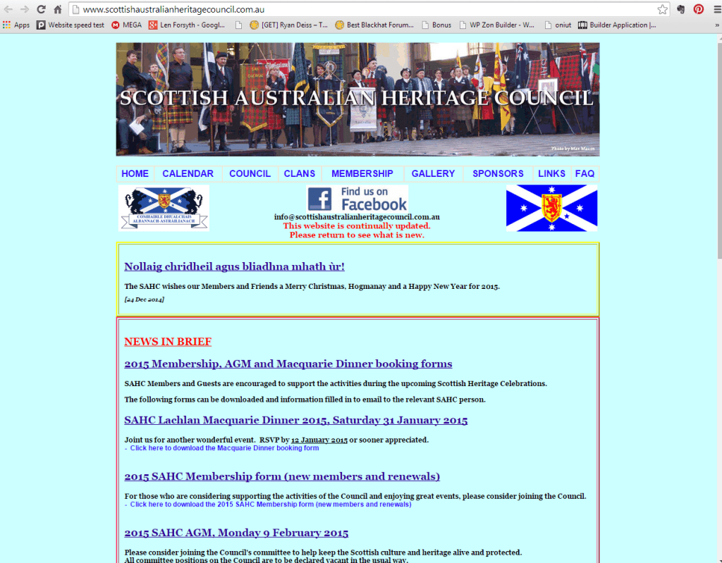 Home Page - Scottish Australian Heritage Council