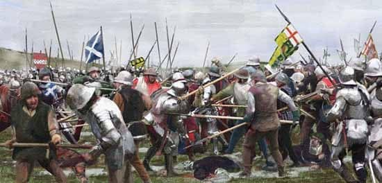 In the Battle of Flodden almost every noble family in Scotland lost at least 1 member